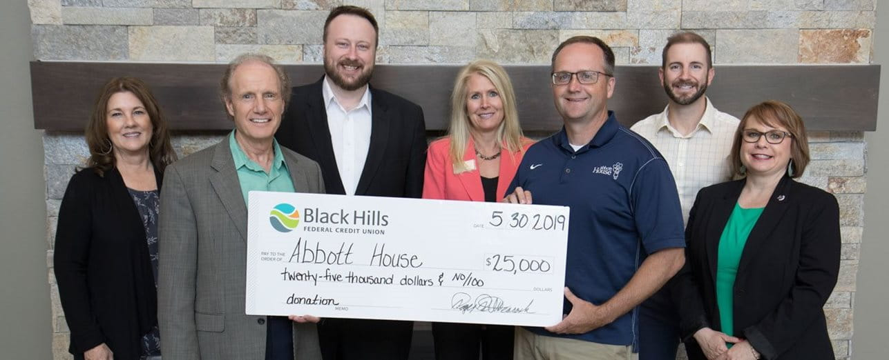 Black Hills FCU Makes Donation to Abbott House Image