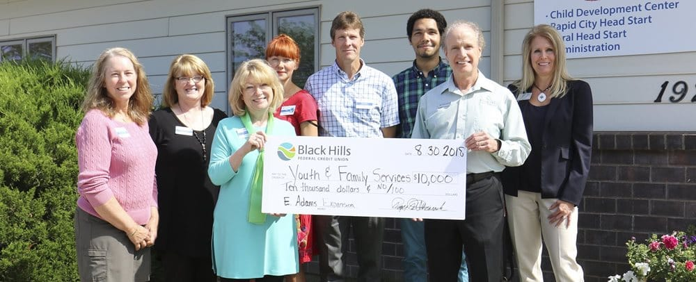 Black Hills FCU Donates $10,000 to Youth and Family Services Foundation Image