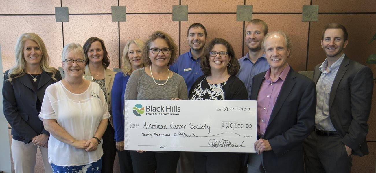 Black Hills FCU Donates $20,000 to Relay For Life Image
