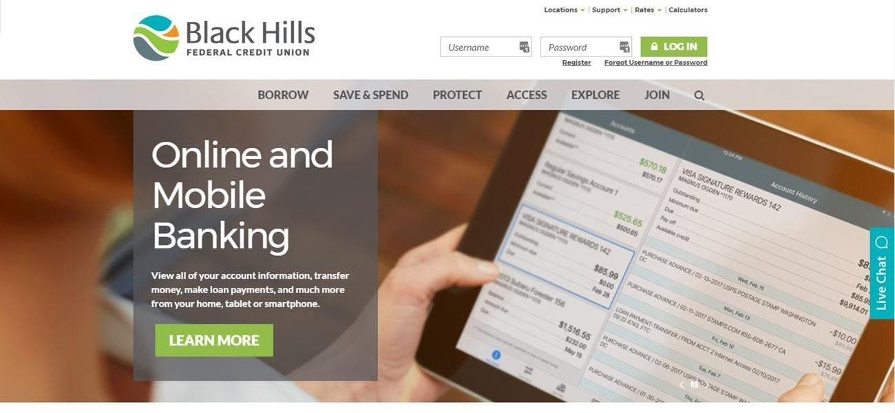 Black Hills FCU Recognized with Best Credit Union Website Award Image